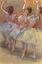 Three Dancers 1888 - Edgar Degas