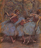 Three Dancers 1900 - Edgar Degas
