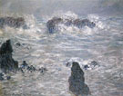Storm Coast of Bella Ile 1886 - Claude Monet