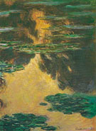Water Lily Evening 1907 - Claude Monet