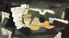 The Guitar and Glass Socrate 1921 - Georges Braque