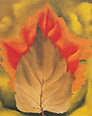 Red and Brown Leaves Autumn Leaves 1925 - Georgia O'Keeffe