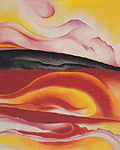 Red Yellow and Black Streak Red to Black 1924 - Georgia O'Keeffe