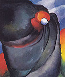 Lake George Coat and Red 1919 - Georgia O'Keeffe