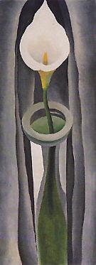 Calla Liliy Tall Glass No 1 1923 - Georgia O'Keeffe