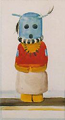 Blue Headed Indian Doll Kachina 1935 - Georgia O'Keeffe