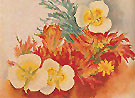 Mariposa Lilies and Indian Paintbrush 1941 - Georgia O'Keeffe