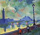 The Thames at Westminster Bridge 1906 - Andre Derain