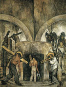 Entry into the Mine 1923 - Diego Rivera