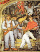 The Arsenal Frida Kahlo Distributes Arms 1928 - Diego Rivera