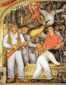 The Arsenal Frida Kahlo Distributes Arms 1928 - Diego Rivera