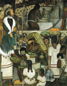 Building the Cortes Palace c1930 - Diego Rivera