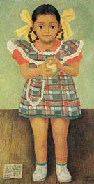 PorTrait of the Young Girl Elenita Carrillo Flores 1952 - Diego Rivera