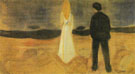 The Lonely Ones Summer Night from the Reinhardt Frieze c1906 - Edvard Munch