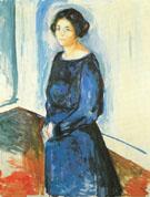 Woman in Blue Frau Barth 1921 - Edvard Munch