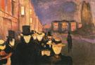 Evening on Karl Johan 1892 - Edvard Munch