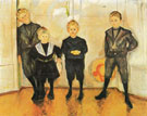 The Four Sons of Dr Linde 1903 - Edvard Munch