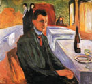 Self Portrait with Wine Bottle 1906 - Edvard Munch