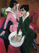Two Woman with a Washbasin 1913 - Ernst Ludwig Kirchner