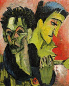 Self Portrait Double Portrait c1914 - Ernst Ludwig Kirchner