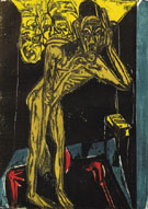 Schlehmil in the Loneliness of his Room 1915 - Ernst Ludwig Kirchner