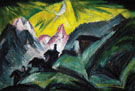 Stafelalp in the Moonlight 1919 - Ernst Ludwig Kirchner