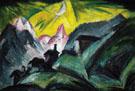 Stafelalp in the Moonlight 1919 - Ernst Ludwig Kirchner