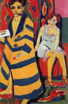 Self Portrait with Model c1910 - Ernst Ludwig Kirchner