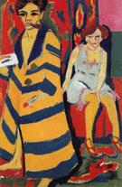 Self Portrait with Model c1910 - Ernst Ludwig Kirchner