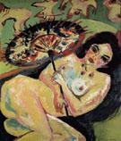 Girl under a Japanese Parasol 1909 - Ernst Ludwig Kirchner