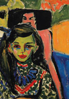 Franzi in Carved Chair 1910 - Ernst Ludwig Kirchner