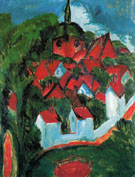 Burg on Fehmarn 1912 - Ernst Ludwig Kirchner