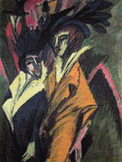 Two Women in Street 1914 - Ernst Ludwig Kirchner