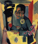 The Painter Self Portrait c1919 - Ernst Ludwig Kirchner