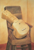 Chair with Guitar Silla Con Guitarra 1980 - Fernando Botero