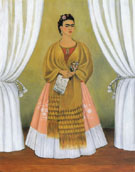 Self Portrait Dedicated to Leon Trotsky Between the Curtains 1937 - Frida Kahlo