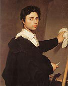Copy after Ingres 1804 Self Portrait - Jean Augusste Ingres
