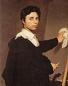 Copy after Ingres 1804 Self Portrait - Jean Augusste Ingres
