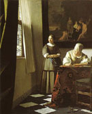 Lady Writing a Letter with Her Maid c1670 - Jan Vermeer