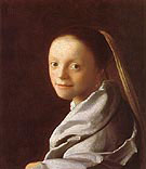 Head of a Girl c1666 - Jan Vermeer