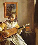 The Guitar Player c1672 - Jan Vermeer