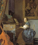 A Lady Seated at the Virginal c1673 - Jan Vermeer