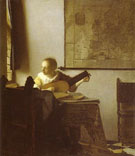 Woman with a Lute Near a Window c1664 - Jan Vermeer