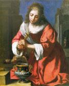 St Praxedis 1655 - Jan Vermeer