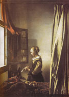 Girl Reading a Letter at an Open Window c1657 - Jan Vermeer