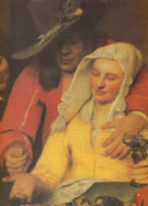 The Procuress Detail 1656 - Jan Vermeer