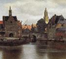 View of Delft Detail c1660 - Jan Vermeer