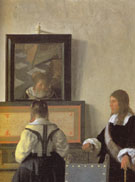 The Music Lesson Detail c1662 - Jan Vermeer