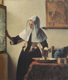 Young Woman with a Jug c1664 - Jan Vermeer
