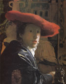 Girl with a Red Hat c1665 - Jan Vermeer